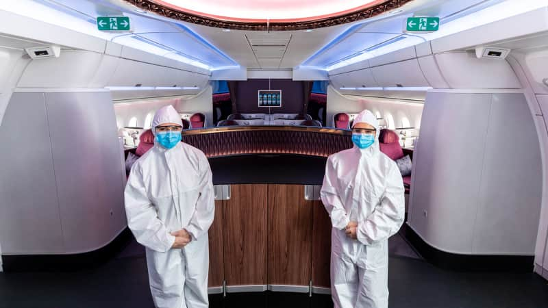 Qatar Airways - New PPE Suits For Cabin Crew