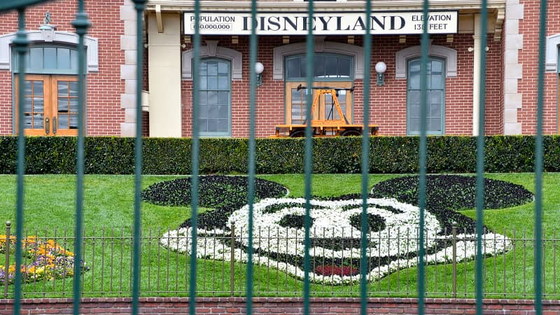The center gate at the entrance to Disneyland was shut on this photo from March 16. And for now, it's going to remain that way.