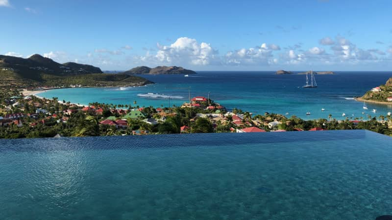Hard to find a bad view on the tony island of St. Barthelemy