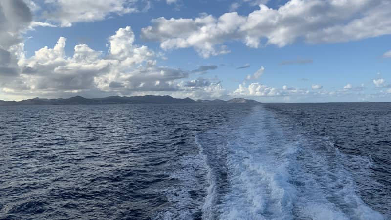 Aboard the Voyager ferry to St. Barts from St. Martin