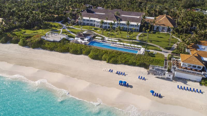 The Ocean Club, Four Seasons, in the Bahamas is offering a fourth night free.