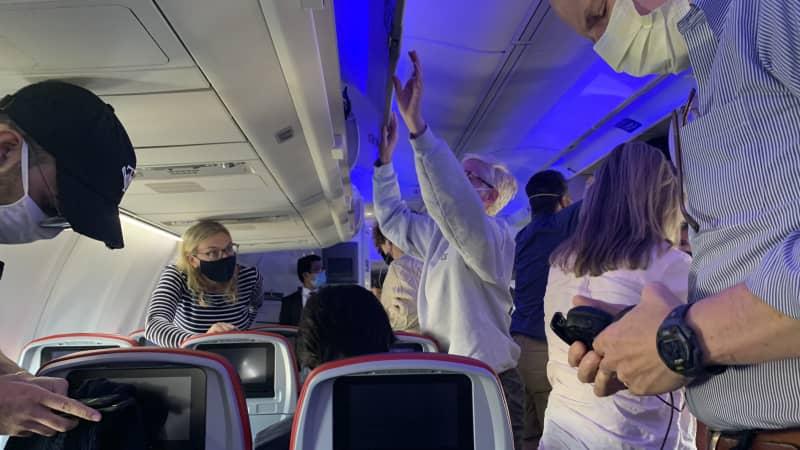Pandemonium upon landing -- all behavior bets are off.