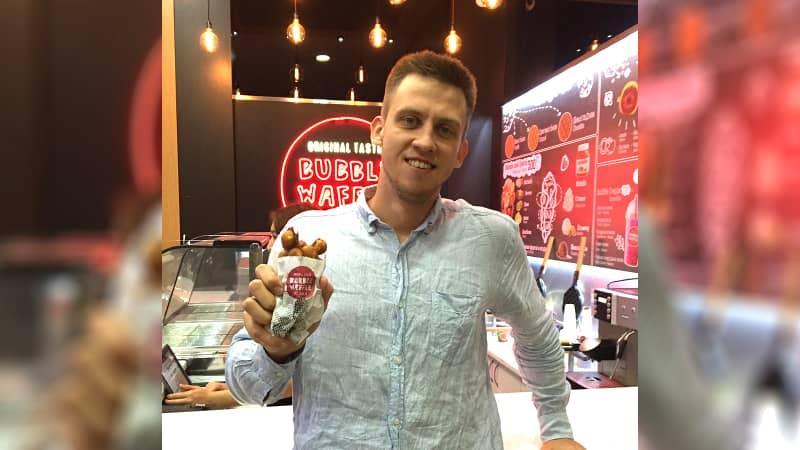 Hong Kong egg waffle bubble waffle