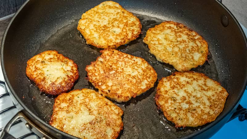 Polish families used potato pancakes as a substitute for bread during tough times.