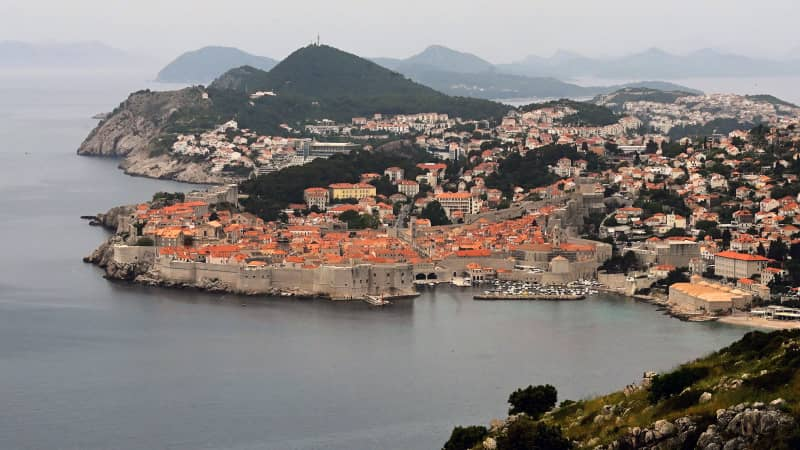 A general view of the old town of the city of Dubrovnik, on the Adriatic coast of Croatia