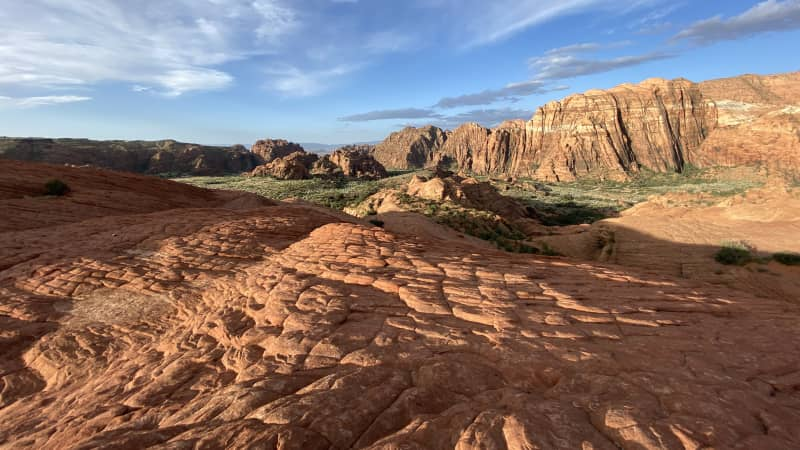 Blogger Lee Abbamonte has been posting stunning shots like this one, of Snow Canyon State Park in Utah, since he started traveling again.