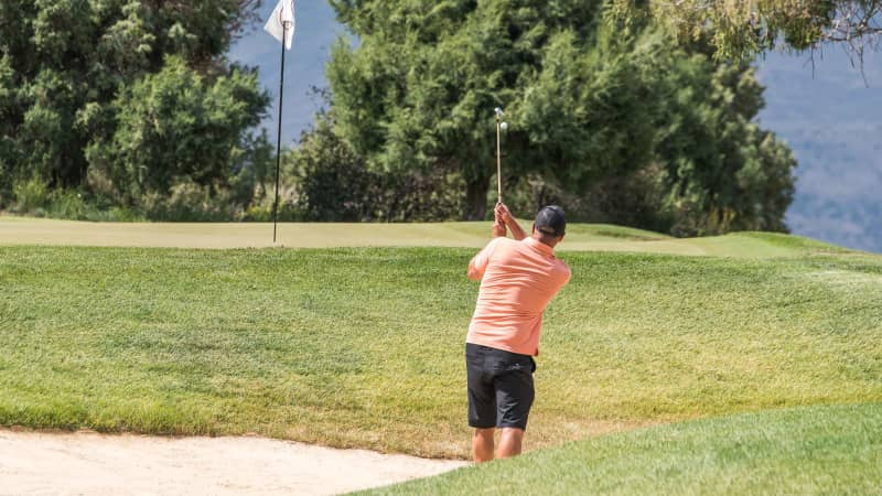 Abbamonte has been golfing and enjoying the outdoors on his travels and he's not ashamed to say so.