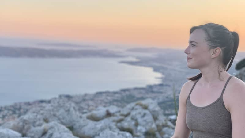 Sarah Archer, pictured in Split, Croatia, says friends have questioned her decision to travel.