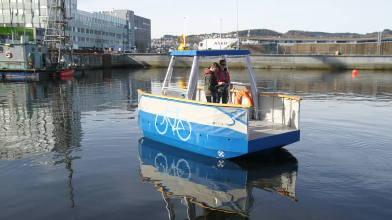 """The first prototype for Trondheim's self-driving ferry was developed by NTNU and is called Milliampere, which means """"little electric."""""""
