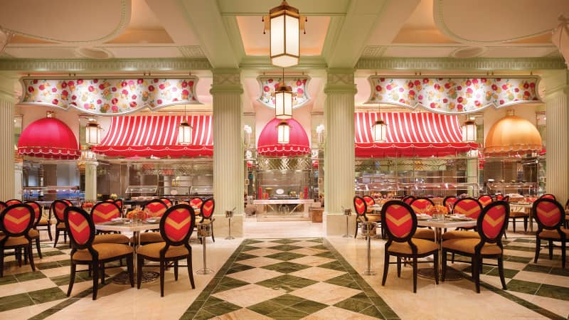 The buffet restaurant at the Wynn Las Vegas is currently closed.