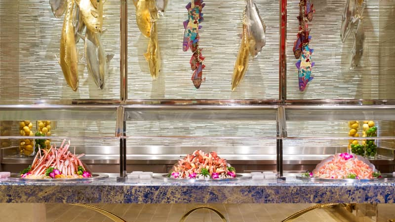 The buffet at the Wynn Las Vegas recently closed after reopening in June.