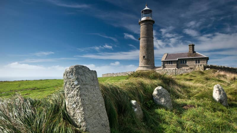 Lundy Island, a National Trust property in the Bristol Channel, where convicts were used as unpaid slave labor.