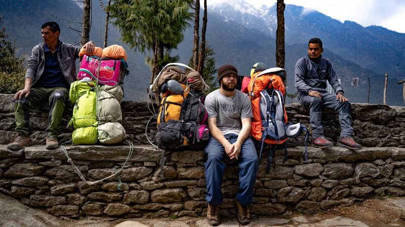 In 2019, Nate Menninger became one of the first foreign-born porters on Mount Everest.