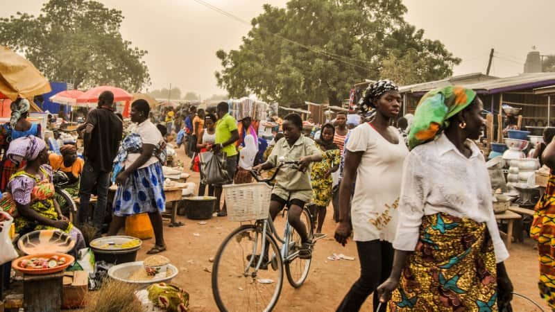 The farmer's market in Bolgatanga.
