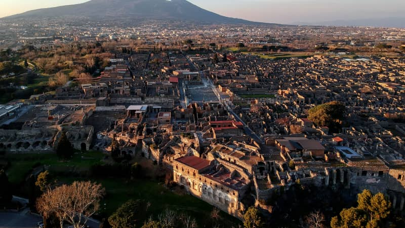 Pompeii is one of the most famous archeological sites in the world.