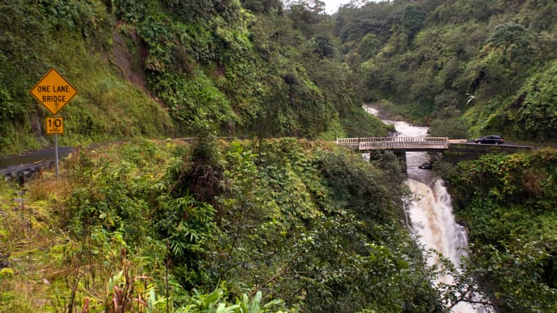 While the Road to Hana in Maui is open, facilities along the way may be limited.