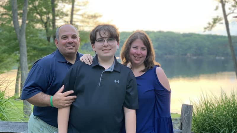 Rebecca Alesia and her family on their family reunion trip in Pennsylvania.