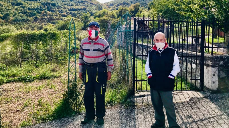 Nortosce: the Italian town where just two people live, but wear masks