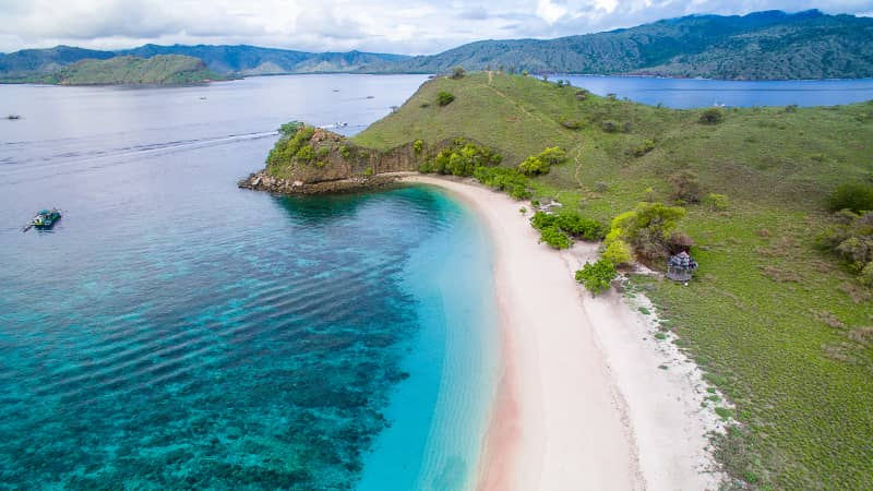 Komodo National Park is home to several pale pink beaches.