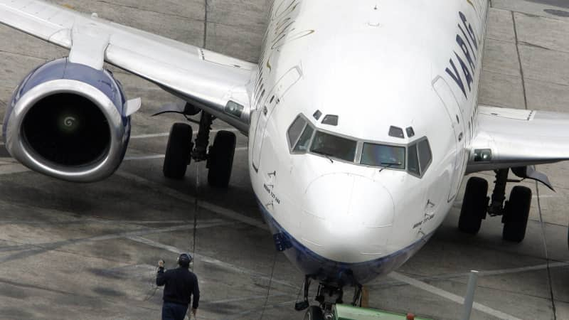 A Boeing 737-300 of the Brazilian airline company Varig, gets ready for takeoff at the Congonhas domestic airport in Sao Paulo, Brazil in 2006