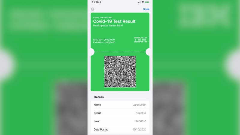 Tech companies such as IBM are developing digital vaccine passports or mobile wallets for test results.