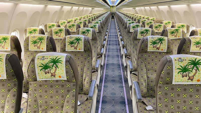 Exeggutor's signature colors are part of the on-board design.