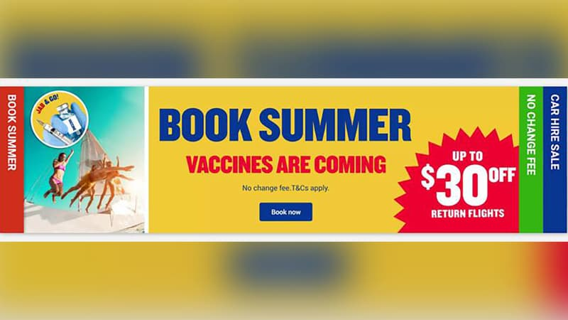 Ryanair's Jab&Go ad campaign.