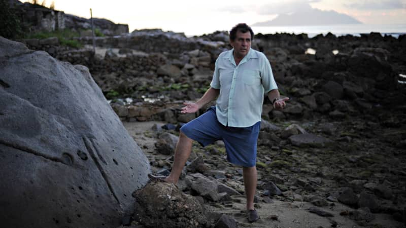 John Cruise-Wilkins is a second-generation treasure hunter in the Seychelles.