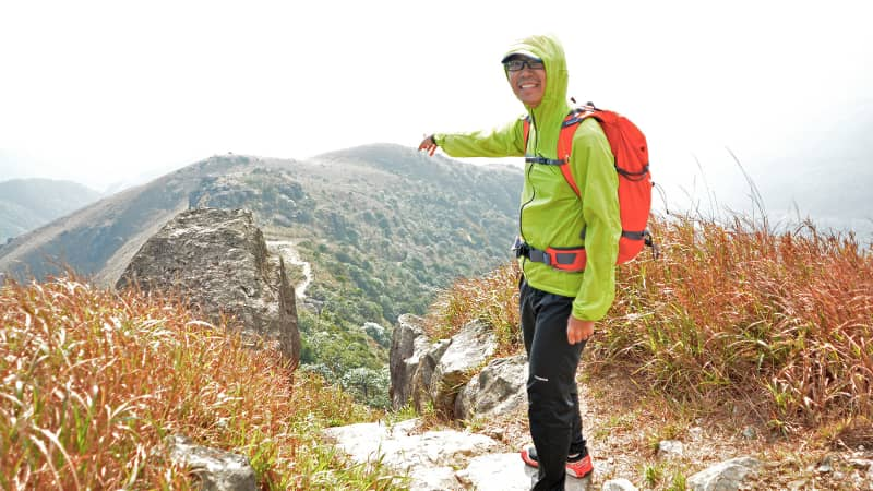 Simon Wan climbed every hill and island in Hong Kong