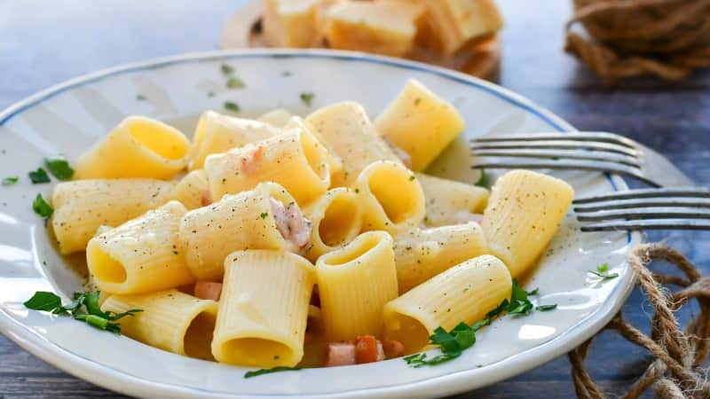 Rigatoni alla Carbonara: The secret's in the quality of the ingredients.
