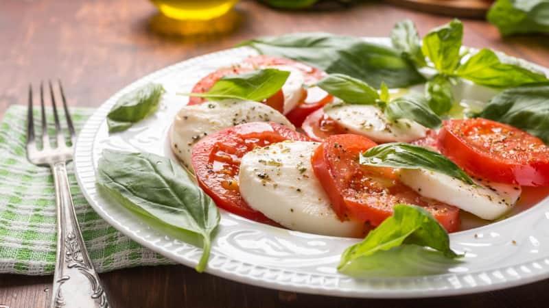 Insalata Caprese: Flying the flag for simple Italian cuisine.