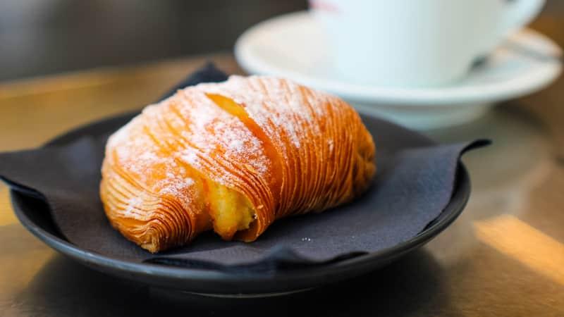 Sfogliatella: The perfect accompaniment to a cappuccino.