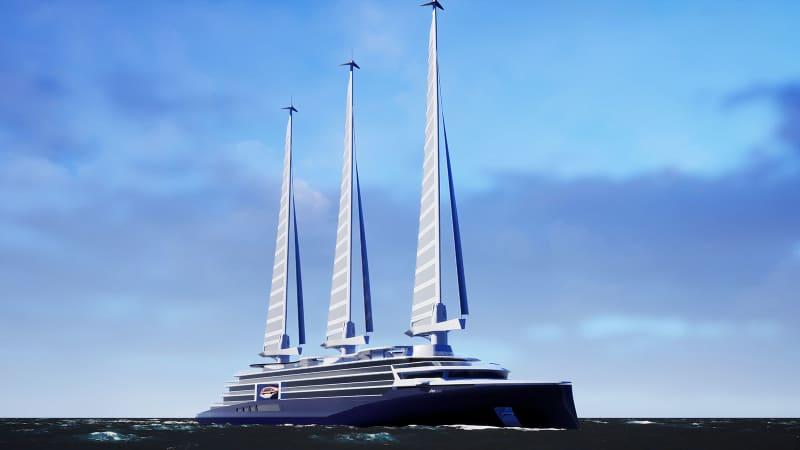 Chantiers de l'Atlantique sail boat rendering