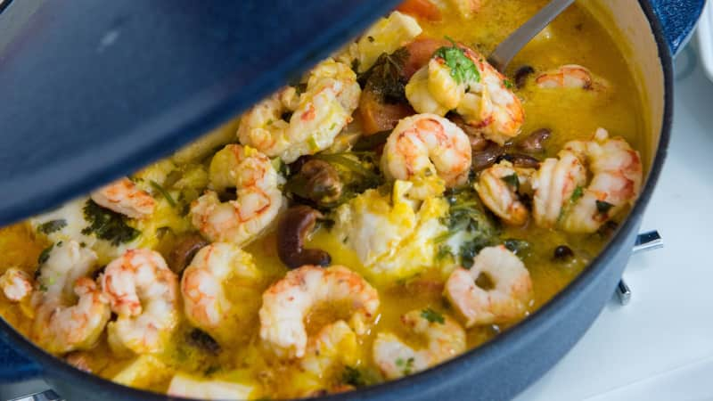 Shrimp floating in a coconut broth? Count us in for moqueca de camarão.
