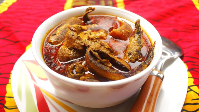Banga is so popular in Nigeria that shops sell ready-mixed packets of spice.