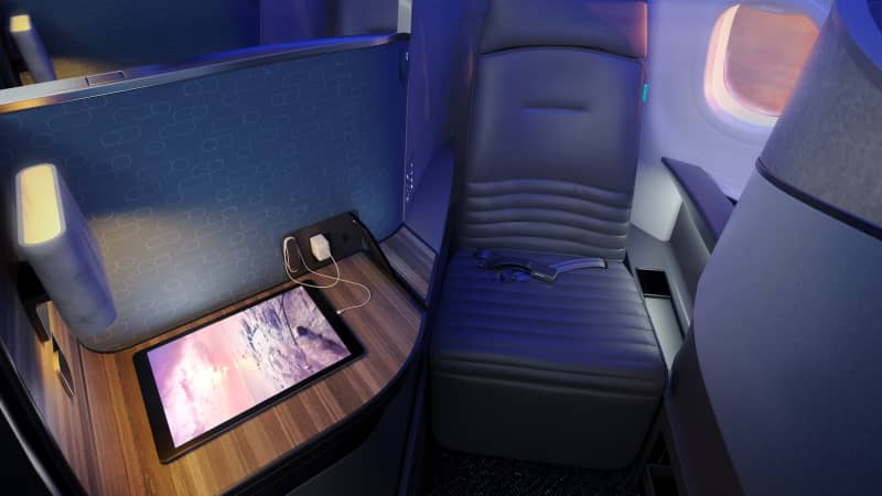 There will be 22 Mint Suites behind the two Mint Studios in JetBlue's new transatlantic business class.