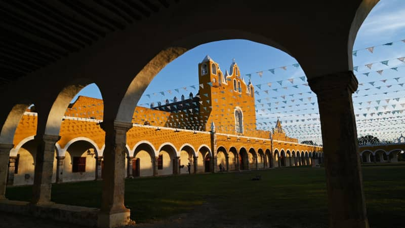 The historic town of Izamal is pictured on December 19, 2020.