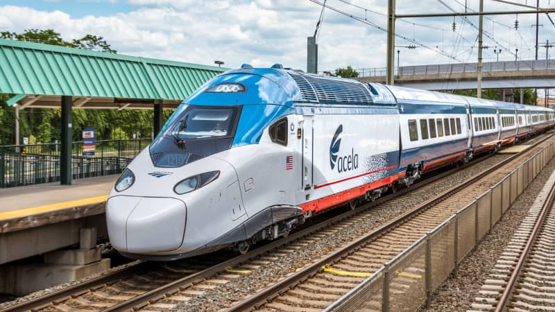 One of the new generation of Acela trains to be deployed on Amtrak's lines.