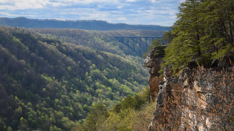 New River Gorge has some 1,400 established climbing routes as well as mountain biking and hiking.