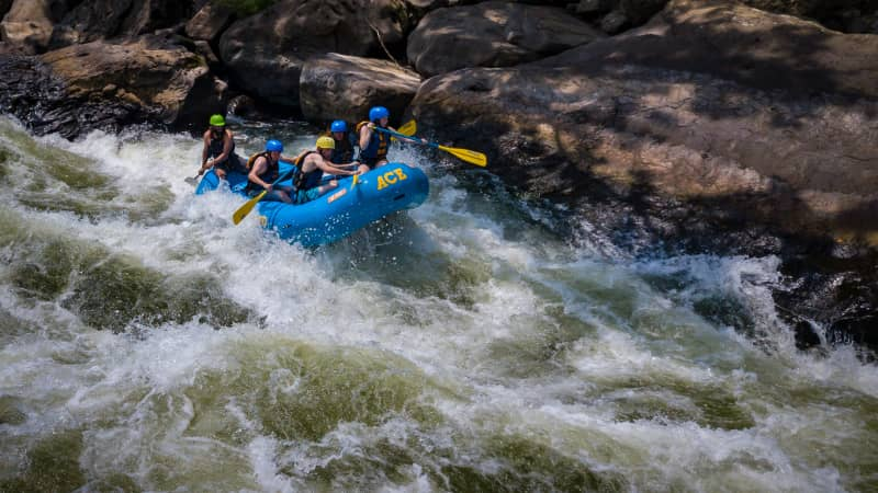 Rafting is available through ACE Adventure Resort and other outfitters.