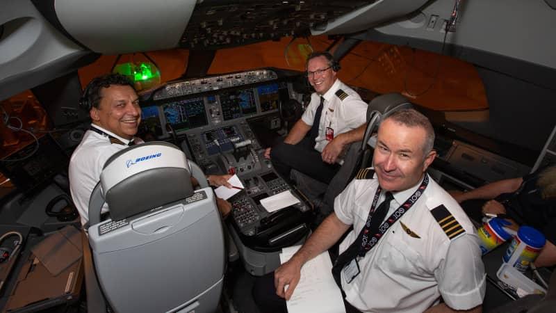 The flight was led by Captain Alex Passerini (left).