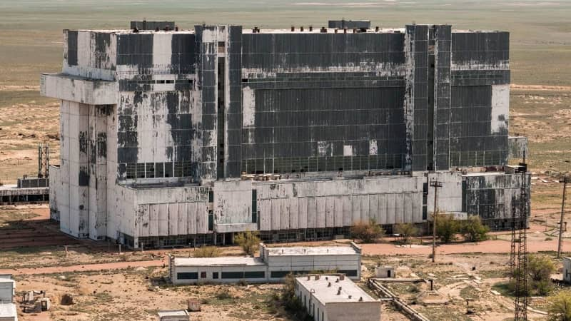 This file photo from 2010 shows he abandoned hangar where the shuttle is stored.