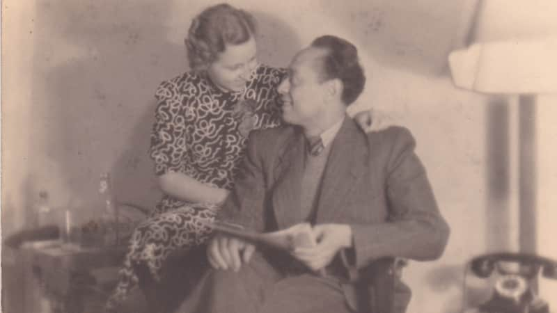 Mohamed Helmy, who saved the lives of several Jews, is pictured with his wife Emmy.