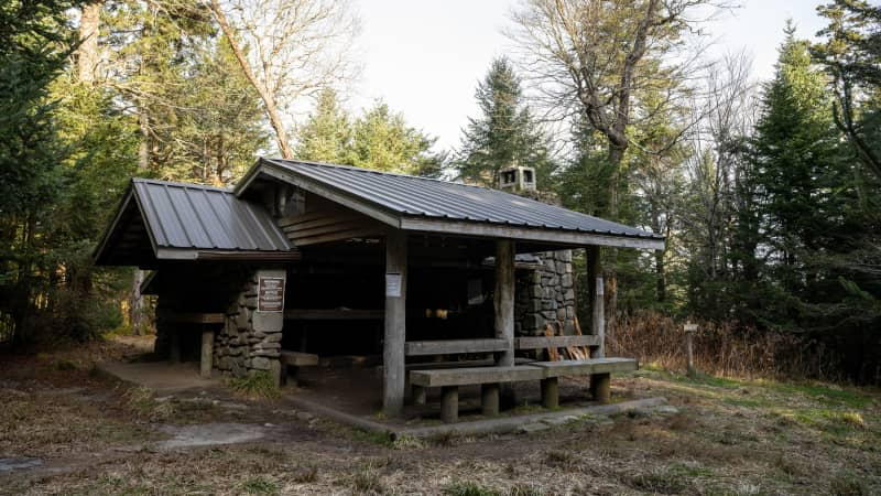 Shelters -- like this one along the Sugarland Mountain Trail near the Appalachian Trail in Tennessee -- are a good option if you don't want to carry a tent.