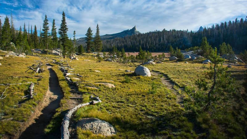 The 211-mile John Muir Trail stretches from Yosemite Valley to Mount Whitney in California.
