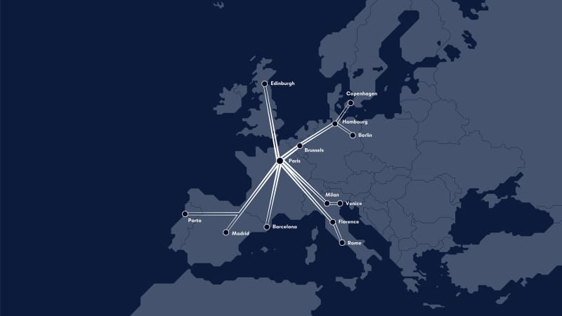 French start-up Midnight Trains has revealed plans for a brand new network of overnight services from Paris to 12 European destinations, including Spain, Portugal, Italy and even Scotland.