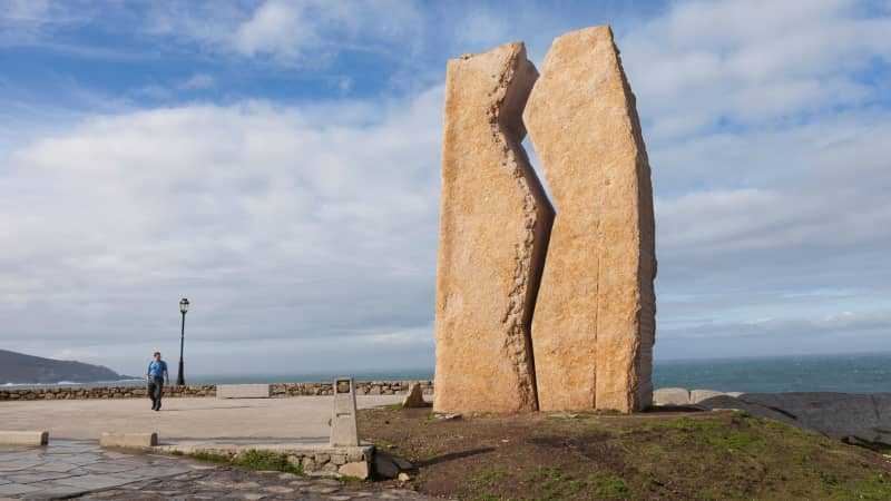 """""""A Ferida"""" (""""The Wound"""") in Muxia is a monument to a disastrous 2002 oil spill."""