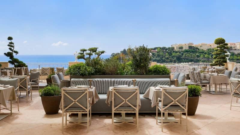 Yannick Alléno à l'Hôtel Hermitage Monte-Carlo: Millionaires' playground view.
