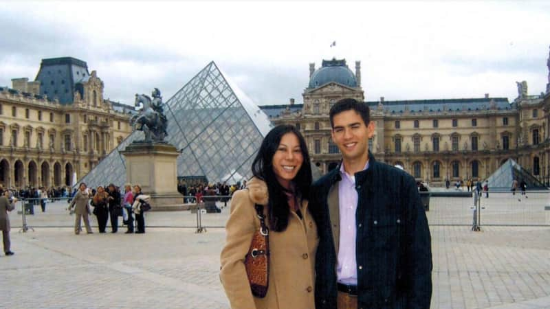 The couple in Paris together in 2006.