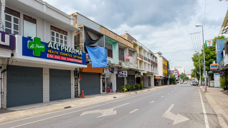 Tha Pae Road, Chiang Mai's main street.